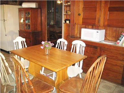 Dennisport - beach-yards away Cape Cod vacation rental - Charming eat-in kitchen, fulled applianced - perfect for children
