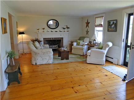 West Harwich Cape Cod vacation rental - Spacious living room with hardwood floors