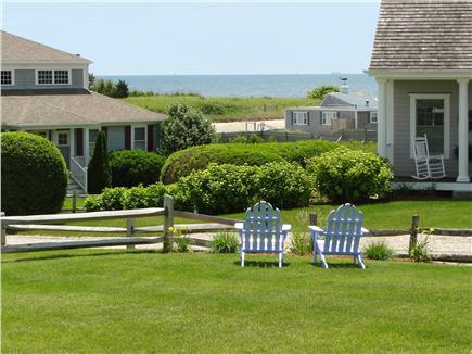 West Harwich Cape Cod vacation rental - Water view and large grassy backyard