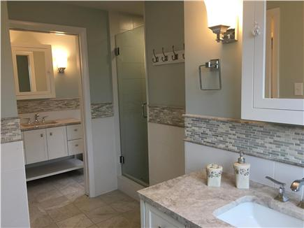 Dennis Cape Cod vacation rental - One of 3 totally renovated bathrooms. All tile shower and bath