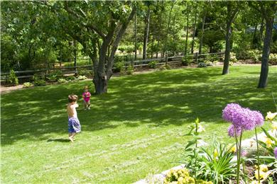Dennis Cape Cod vacation rental - Enclosed and private back yard - great for kids