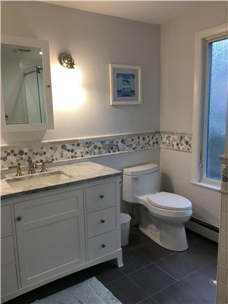 Dennis Cape Cod vacation rental - One of 3 totally renovated bathrooms.  All tile shower and bath.