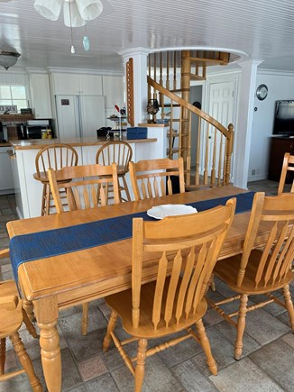 Sagamore Beach Cape Cod vacation rental - Well provisioned kitchen with a dining room table that seats six.