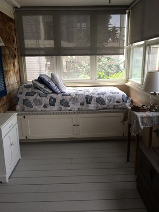 Sagamore Beach Cape Cod vacation rental - Front porch with single bed