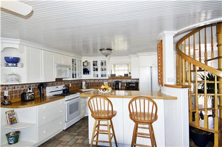 Sagamore Beach Sagamore Beach vacation rental - Well provisioned kitchen w/ spiral stairs to the second floor