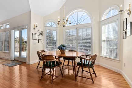 Chatham, downtown Cape Cod vacation rental - Bright dining area convenient to well-equipped kitchen and deck