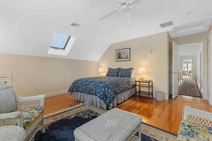 Chatham, downtown Cape Cod vacation rental - Another queen size bedroom with skylight and Jack N Jill bath