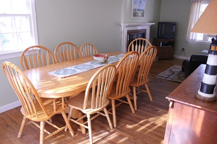 West Yarmouth Cape Cod vacation rental - Dining room(seats 8, Kitchen seats 6, deck off DR seats 5-6)