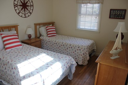 West Yarmouth Cape Cod vacation rental - Twin bedroom (1 of 2)  upstairs with bureau,  dresser and closet