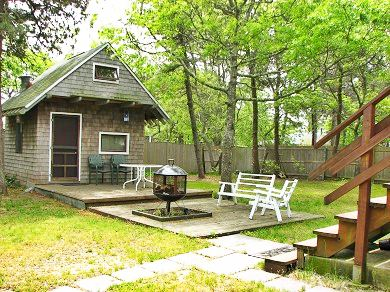 West Yarmouth Cape Cod vacation rental - Large backyard w/ bunkhouse & outdoor fireplace