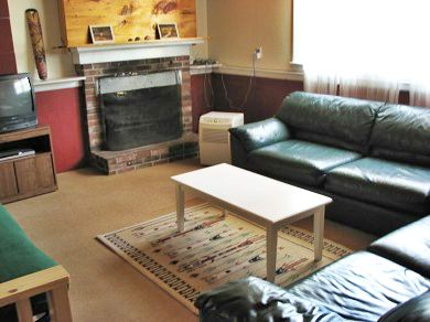 West Yarmouth Cape Cod vacation rental - Downstairs family room with futon, air hockey, tv/dvd/vcr