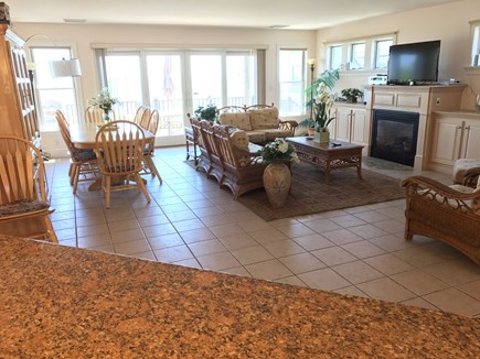 Dennis Port Cape Cod vacation rental - Living/Dining Room/Gas Fireplace