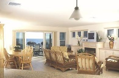 Dennis Port Cape Cod vacation rental - Open living/dining w/ sliders to deck & ocean view
