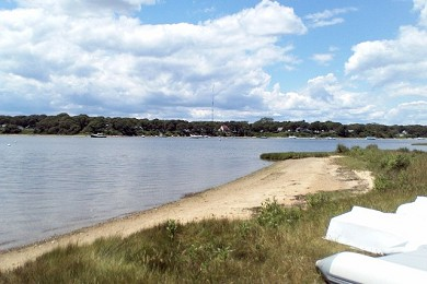 East Falmouth (Belmar) Cape Cod vacation rental - Bay (at end of street)
