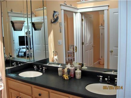 Yarmouth, Great Island Ocean Club, West  Cape Cod vacation rental - Master Bath 2nd floor double vanity