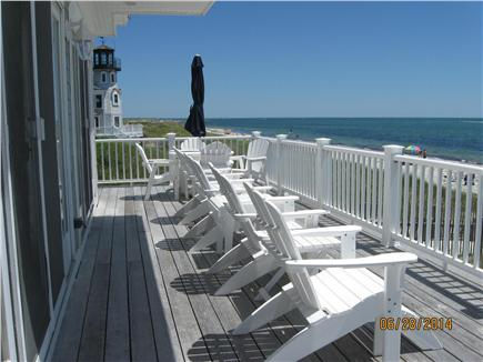 Yarmouth, Great Island Ocean Club, West  Cape Cod vacation rental - Relax on 1st floor deck overlooking private beach!