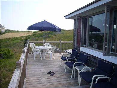 Wellfleet Cape Cod vacation rental - Front deck