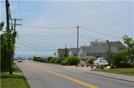 Falmouth Surf Drive Beach Cape Cod vacation rental - View from front of house to Surf Drive Beach (approx. 300 feet)