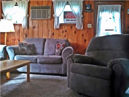 Mashpee, New SeaburyPopponesset Beach Cape Cod vacation rental - Living room with AC unit
