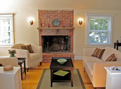 Osterville Osterville vacation rental - Living Room with fireplace