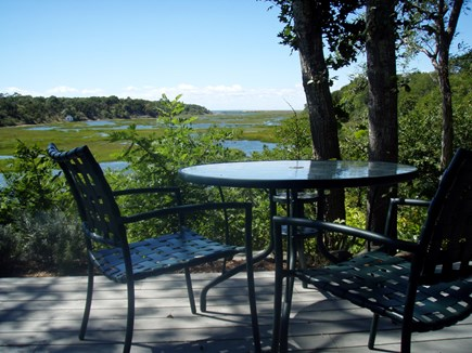 Truro Cape Cod vacation rental - Deck dinning over looking the Pamet River