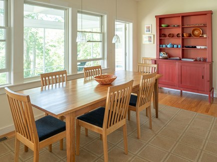 Truro Cape Cod vacation rental - dining room overlooking Pamet River