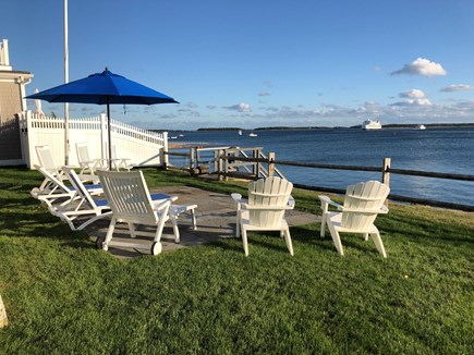 West Yarmouth Cape Cod vacation rental - View of Lewis Bay from Backyard
