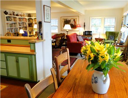 S. Wellfleet Cape Cod vacation rental - Dining room opens to living room and kitchen