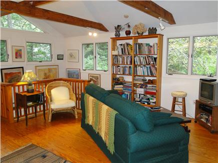 S. Wellfleet Cape Cod vacation rental - Large study with vaulted ceilings, sofa, TV