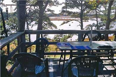 S. Wellfleet Cape Cod vacation rental - Front deck overlooking the bay