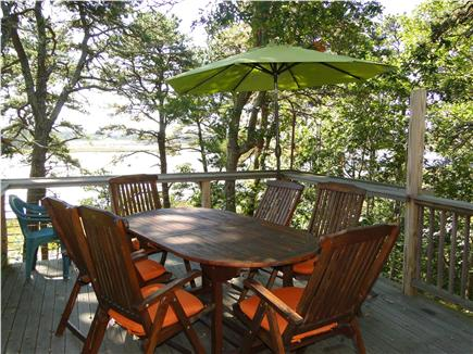 S. Wellfleet Cape Cod vacation rental - Deck with grill and bay view