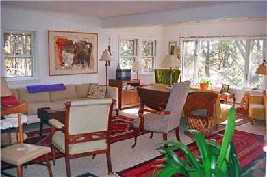 S. Wellfleet Cape Cod vacation rental - Double Living room with fireplace