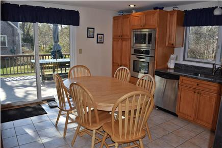 Brewster Cape Cod vacation rental - Kitchen opens to deck