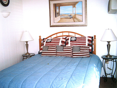 Dennisport Cape Cod vacation rental - Bedroom with queen-size bed