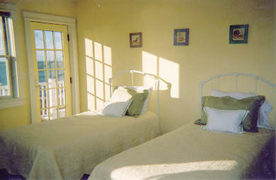 Hyannis Cape Cod vacation rental - Two Upstairs Bedrooms with twin beds and waterviews