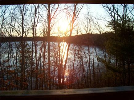 Brewster Cape Cod vacation rental - Overlooking Pond from Apt. deck out of season