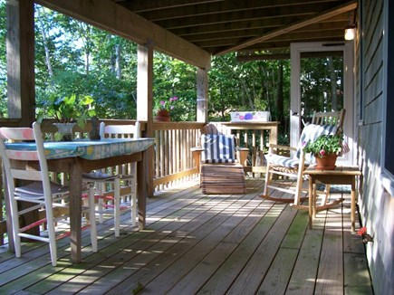 Brewster Cape Cod vacation rental - Your private deck to relax, eat, read & peeks of the pond too.