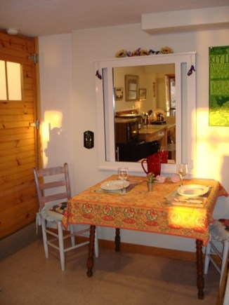 Brewster Cape Cod vacation rental - Inside eating in kitchen area.