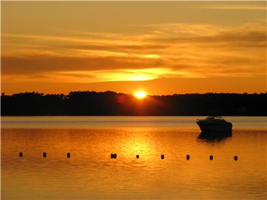 Dennis Cape Cod vacation rental - Beautiful sunset on the pond