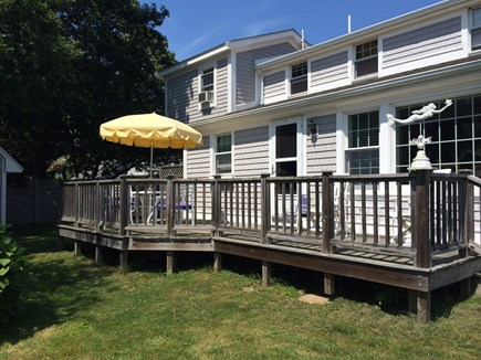 Falmouth Heights Cape Cod vacation rental - Back deck