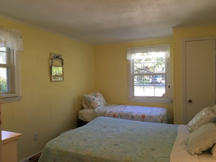 Falmouth Heights Cape Cod vacation rental - Downstairs bedroom: 1 Queen, 1 Twin