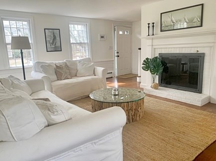 Falmouth Cape Cod vacation rental - Comfortable seating area with fireplace in Living room