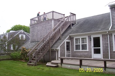 Falmouth Cape Cod vacation rental - Upper and Lower Decks and Backyard