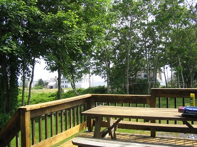 West Yarmouth Cape Cod vacation rental - View towards Ocean from the deck.