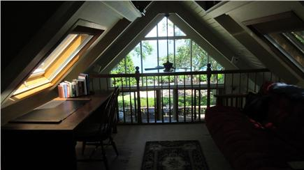Plymouth MA vacation rental - Loft room with view of the ocean