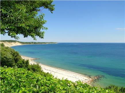 Plymouth MA vacation rental - View of vast, gorgeous beach from patio