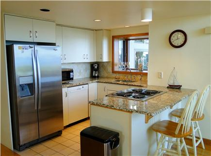 Plymouth MA vacation rental - Modern kitchen with granite, stainless steel appliances