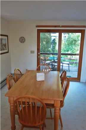 Falmouth Cape Cod vacation rental - Step through Sliders onto the Deck from the Dining Room