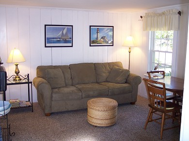 West Yarmouth Cape Cod vacation rental - Living room on one bedroom side