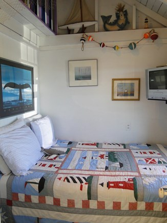 North Truro Cape Cod vacation rental - Whale bedroom with fun décor